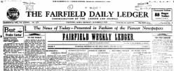 Fairfield Daily Ledger newspaper archives
