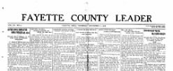 Fayette County Leader newspaper archives