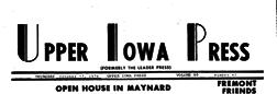 Upper Iowa Press newspaper archives