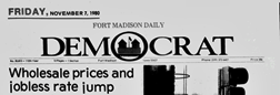 Fort Madison Daily Democrat newspaper archives