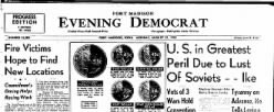 Fort Madison Evening Democrat newspaper archives