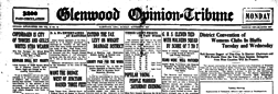 Glenwood Opinion Tribune newspaper archives