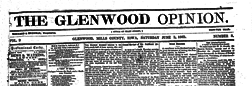 Glenwood Opinion newspaper archives