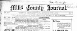 Mills County Journal newspaper archives