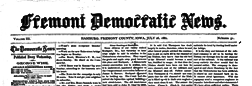 Fremont Democratic News newspaper archives