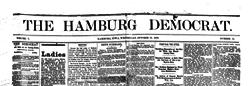 Hamburg Democrat newspaper archives