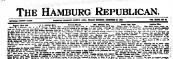 Hamburg Republican newspaper archives