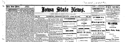 Iowa State News newspaper archives