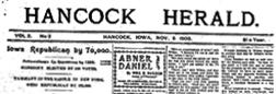 Hancock Herald newspaper archives