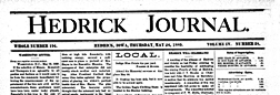 Hedrick Journal newspaper archives
