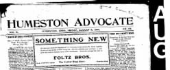 Humeston Advocate newspaper archives