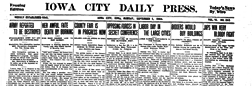 Iowa City Daily Press newspaper archives