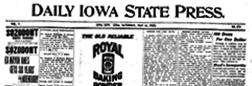 Iowa State Press newspaper archives