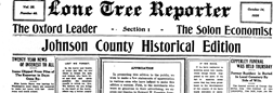 Lone Tree Reporter newspaper archives