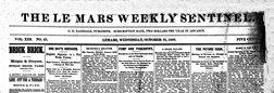 Le Mars Weekly Sentinel newspaper archives