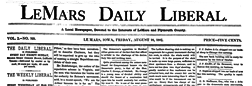 Lemars Daily Liberal newspaper archives