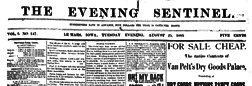 Lemars Evening Sentinel newspaper archives