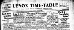 Lenox Time Table newspaper archives