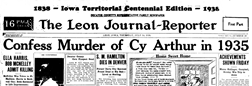 Leon Journal Record newspaper archives
