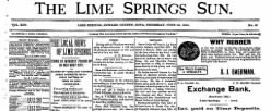 Lime Springs Sun newspaper archives