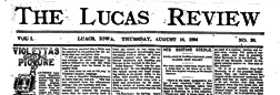 Lucas Review newspaper archives