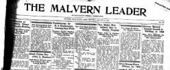 Malvern Leader newspaper archives