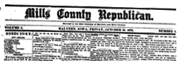 Mills County Republican newspaper archives
