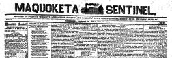 Maquoketa Sentinel newspaper archives