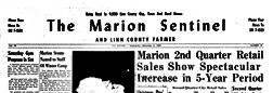 Marion Sentinel And Linn County Farmer newspaper archives