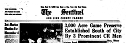 Sentinel And Linn County Farmer newspaper archives