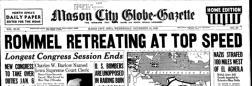 Mason City Globe Gazette newspaper archives
