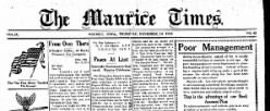 Maurice Times newspaper archives
