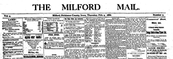 Milford Mail newspaper archives