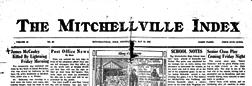 Mitchellville Index newspaper archives