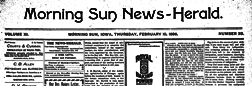 Morning Sun News Herald newspaper archives