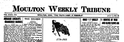 Moulton Weekly Tribune newspaper archives