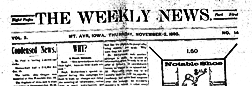 Mount Ayr Weekly News newspaper archives
