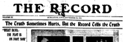 Muscatine Record newspaper archives
