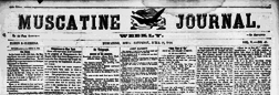 Muscatine Weekly Journal newspaper archives