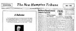 New Hampton Tribune newspaper archives