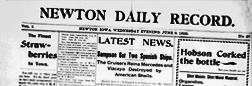 Newton Daily Record newspaper archives
