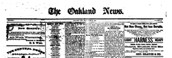 Oakland News newspaper archives