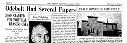 Odebolt Chronicle newspaper archives