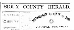 Sioux County Herald newspaper archives