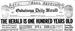 Oskaloosa Daily Herald newspaper archives