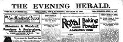 Oskaloosa Evening Herald newspaper archives