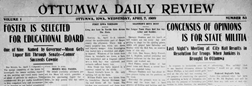 Ottumwa Daily Review newspaper archives