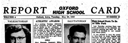 Oxford High School Report Card newspaper archives