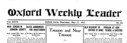 Oxford Weekly Leader newspaper archives
