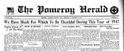 Pomeroy Herald newspaper archives